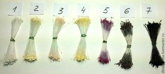 Тычинки японский дизайн микро матовые 1 головка - 0,13 руб.  Фасовка пучками: 1 пучок - 37 руб. (в пучке около 144 тычинок/280 головок по 0,13 руб, продается только в расфасованном виде).