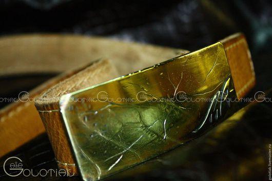 Пояса, ремни ручной работы. Ярмарка Мастеров - ручная работа. Купить Пряжка именная. Handmade. Желтый, пряжка именная, Литье
