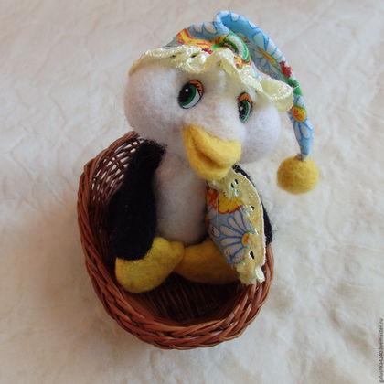 Куклы и игрушки ручной работы. Ярмарка Мастеров - ручная работа. Купить Пингвин. Handmade. Черный, игрушка из войлока, глазки для игрушек