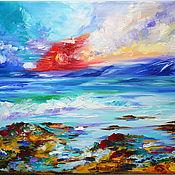 Картины и панно handmade. Livemaster - original item Oil painting Sunny beach. Handmade.