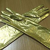 Одежда ручной работы. Ярмарка Мастеров - ручная работа Перчатки золотые. Handmade.