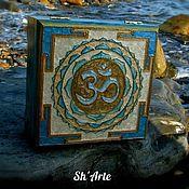 Для дома и интерьера handmade. Livemaster - original item Box East Yantra OM. Handmade.