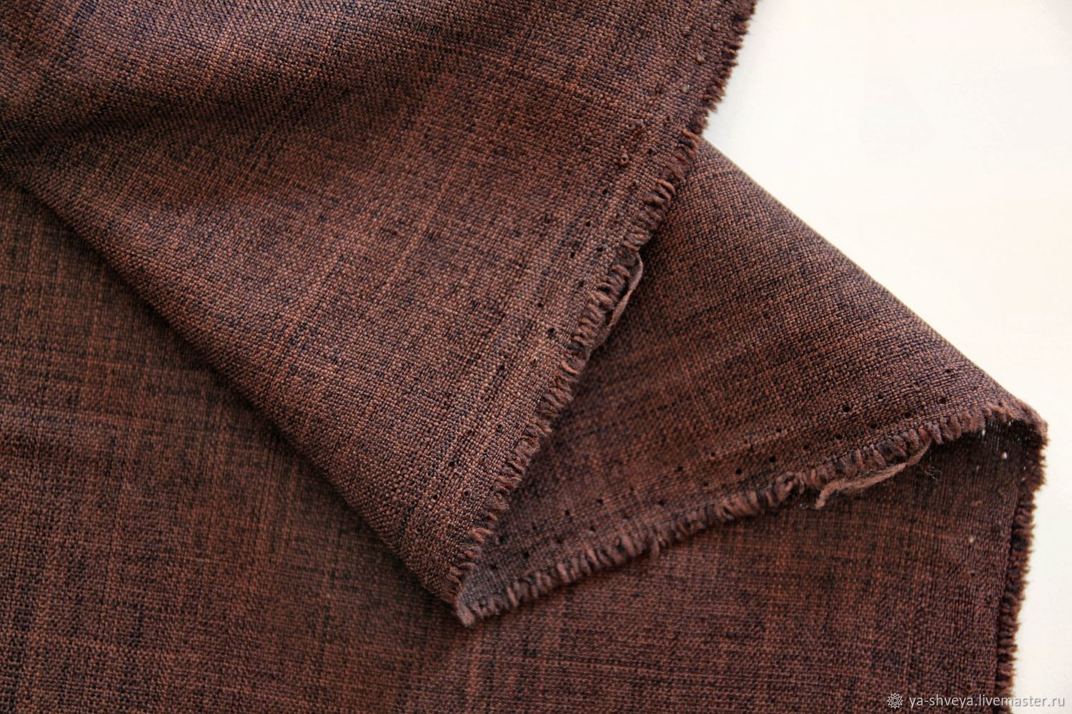 SOLID faux linen - CHOCOLATE, Fabric, Moscow,  Фото №1