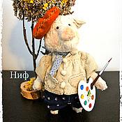 Куклы и игрушки ручной работы. Ярмарка Мастеров - ручная работа Тедди - поросенок Ниф (есть выкройка). Handmade.