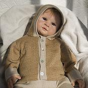 Работы для детей, ручной работы. Ярмарка Мастеров - ручная работа Вязаный комплект Европейский для новорожденных на выписку. Handmade.