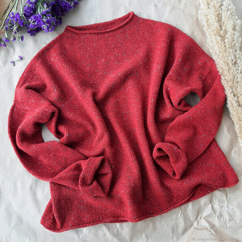 Свитшот-наволочка оверсайз, большой вязаный свитер женский, Свитшоты, Москва,  Фото №1