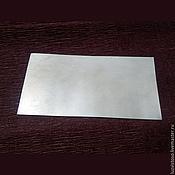 Материалы для творчества ручной работы. Ярмарка Мастеров - ручная работа Серебряная пластина (ювелирное серебро листовое 925 пробы). Handmade.