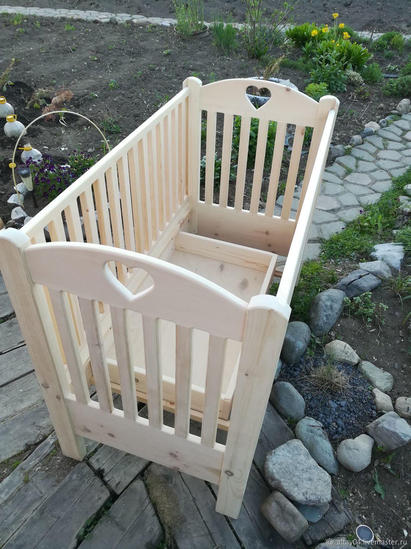 Baby cot from solid cedar a Healthy baby, Bed, Turochak,  Фото №1