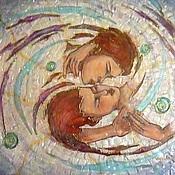 Картины и панно ручной работы. Ярмарка Мастеров - ручная работа Рождение галактики. Картина на стекле. Handmade.