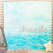 Картины и панно ручной работы. Ярмарка Мастеров - ручная работа Интерьерное панно в стиле string-art Just Breathe!. Handmade.