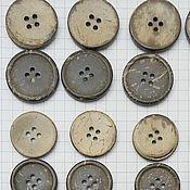 пуговица кокос с бортиком 4 прокола  25 мм