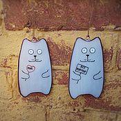 """Приколы ручной работы. Ярмарка Мастеров - ручная работа Витражные коты """"Питер, мур-мур"""". Handmade."""