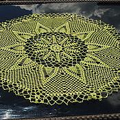 Для дома и интерьера ручной работы. Ярмарка Мастеров - ручная работа Салфетка Оливковый ананас. Handmade.