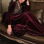 Одежда ручной работы. Ярмарка Мастеров - ручная работа Платье вечернее бархатное. Handmade.