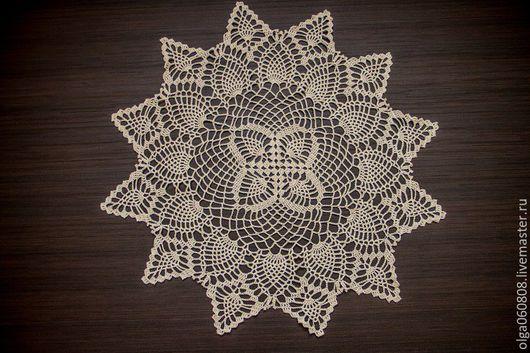 Текстиль, ковры ручной работы. Ярмарка Мастеров - ручная работа. Купить Салфетка Нежность. Handmade. Бежевый, ручная работа