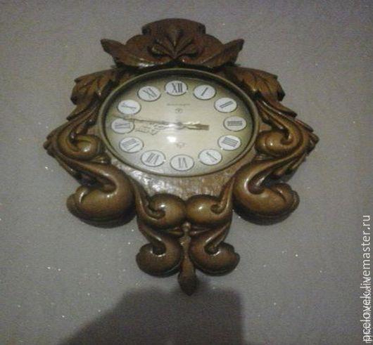 Часы для дома ручной работы. Ярмарка Мастеров - ручная работа. Купить часы ручной работы. Handmade. Коричневый, часы настенные