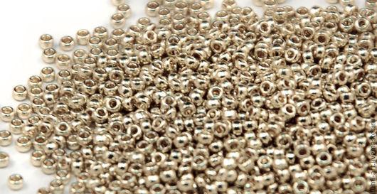 Для украшений ручной работы. Ярмарка Мастеров - ручная работа. Купить Круглый 15/0 Miyuki 4201 Duracoat silver серебряный Японский бисер. Handmade.