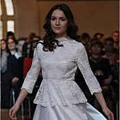 Одежда handmade. Livemaster - original item Lace wedding dress. Handmade.