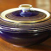 Винтаж handmade. Livemaster - original item Beautiful porcelain box, cobalt, firms Weimar, Germany. Handmade.