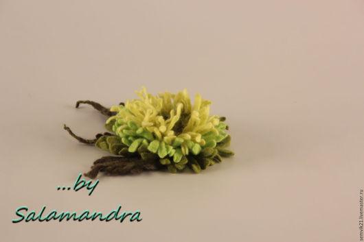 Цветы ручной работы. Ярмарка Мастеров - ручная работа. Купить Цветы из мериносовой шерсти. Handmade. Комбинированный, цветок из шерсти