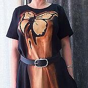 """Одежда ручной работы. Ярмарка Мастеров - ручная работа Платье бохо  """"Полет бабочки"""" из льна. Handmade."""