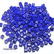 Материалы для творчества handmade. Livemaster - original item 10g 3 mm cube 48 Japanese TOHO beads opaque blue. Handmade.