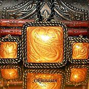 "Jewelry Sets handmade. Livemaster - original item Earrings, pendant, set ""Heirloom gold"". Handmade."