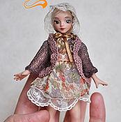 Куклы и игрушки ручной работы. Ярмарка Мастеров - ручная работа Фарфоровая кукла-малышка формата 1:12. Handmade.