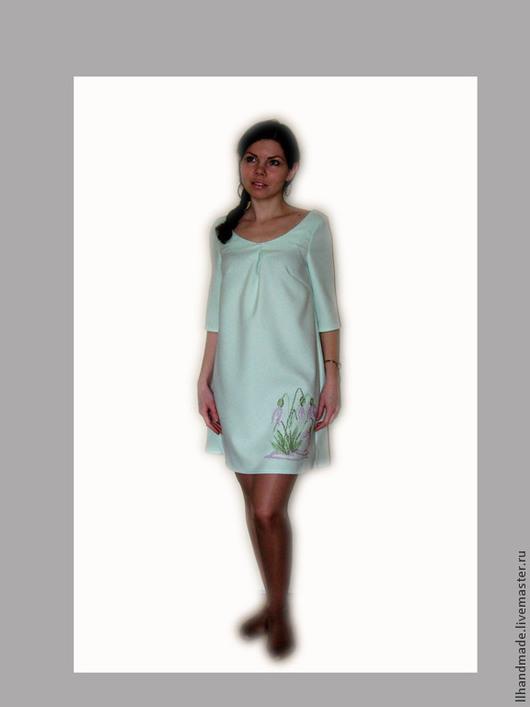 """Платья ручной работы. Ярмарка Мастеров - ручная работа. Купить Платье """"Март"""" - ручная вышивка. Handmade. Вышитое платье"""
