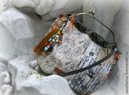 ретро, этника, сумка, большая сумка, велосипед, винтаж, купить, купить подарок, сумка на каждый день, буквы, кисть, большая сумка, сумка кожанная, италия, сава, sava dama, купить, кока кола, coca cola