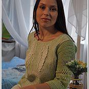 """Одежда ручной работы. Ярмарка Мастеров - ручная работа Вязано-валяный свитерок """" Мята"""". Handmade."""