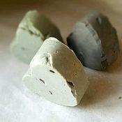 Косметика ручной работы. Ярмарка Мастеров - ручная работа Натуральное мыло с нуля с зелёной, голубой и чёрной глиной. Handmade.