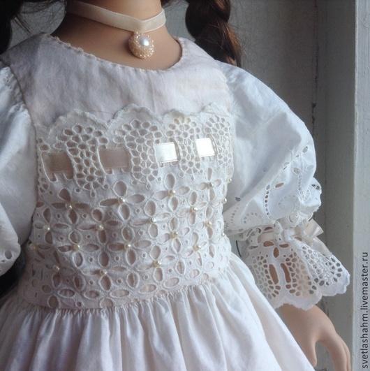 Одежда для кукол ручной работы. Ярмарка Мастеров - ручная работа. Купить Платье. Handmade. Белый, жемчуг натуральный