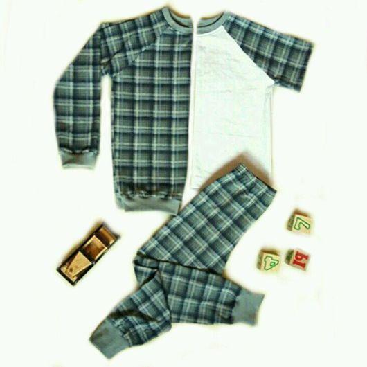 Одежда для мальчиков, ручной работы. Ярмарка Мастеров - ручная работа. Купить Пижама для мальчика.. Handmade. Пижама, кулирка, трикотаж