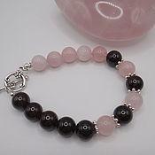 Украшения handmade. Livemaster - original item Bracelet with rose quartz and garnet. Handmade.