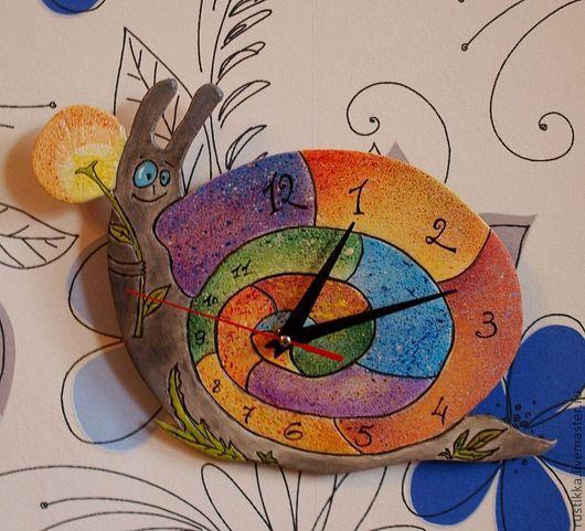 """Часы для дома ручной работы. Ярмарка Мастеров - ручная работа. Купить Настенные часы """"Улитка"""". Handmade. Часы настенные"""