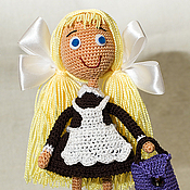 Куклы и игрушки handmade. Livemaster - original item Doll school Girl knitted. Handmade.