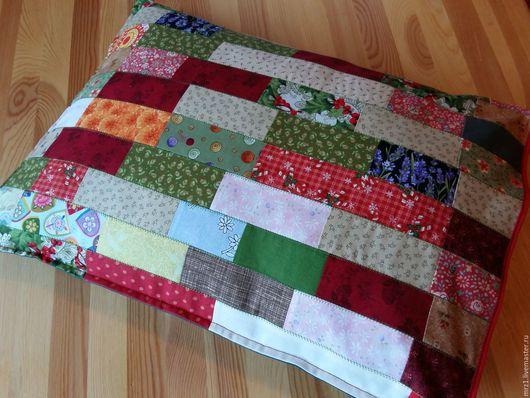 Текстиль, ковры ручной работы. Ярмарка Мастеров - ручная работа. Купить Лоскутная подушка. Handmade. Комбинированный, купить подушку