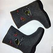 """Обувь ручной работы. Ярмарка Мастеров - ручная работа Валенки """"Синички"""". Handmade."""