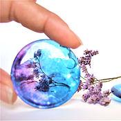 Украшения handmade. Livemaster - original item Transparent Earrings Blue Purple Galaxy Space Nebula Stars. Handmade.