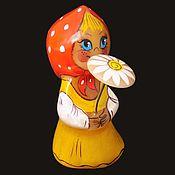 Для дома и интерьера ручной работы. Ярмарка Мастеров - ручная работа Машенька с Ромашкой - фигурка из камня Селенит. Handmade.