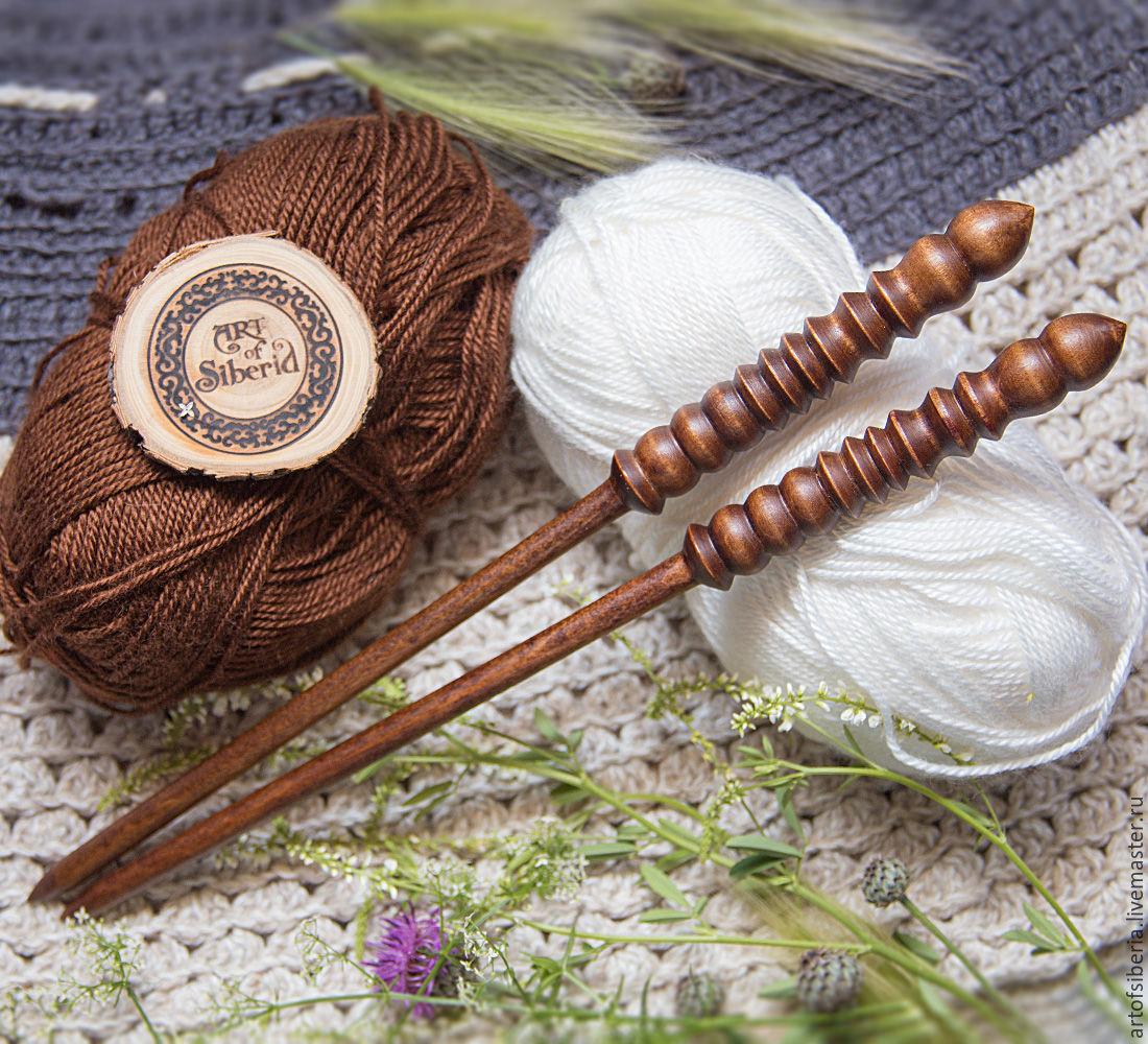 Wooden knitting needles 8mm/305#1, Knitting Needles, Novokuznetsk,  Фото №1