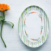 Посуда handmade. Livemaster - original item Carrot joy! Serving dish, pottery. Handmade.