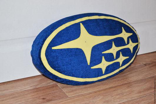Автомобильные ручной работы. Ярмарка Мастеров - ручная работа. Купить подушка-логотип Subaru — Блеск звезд)))) и красота звездного неба! Это. Handmade.