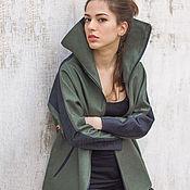 Одежда ручной работы. Ярмарка Мастеров - ручная работа Стильная куртка с высоким воротником / Летняя куртка. Handmade.
