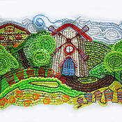 Картины и панно ручной работы. Ярмарка Мастеров - ручная работа Летний пейзаж с мельницей. Handmade.
