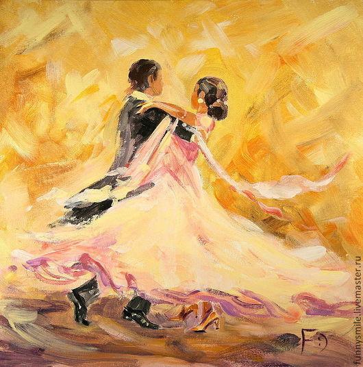 Люди, ручной работы. Ярмарка Мастеров - ручная работа. Купить Картина маслом на холсте. В вихре танца.. Handmade. Танец