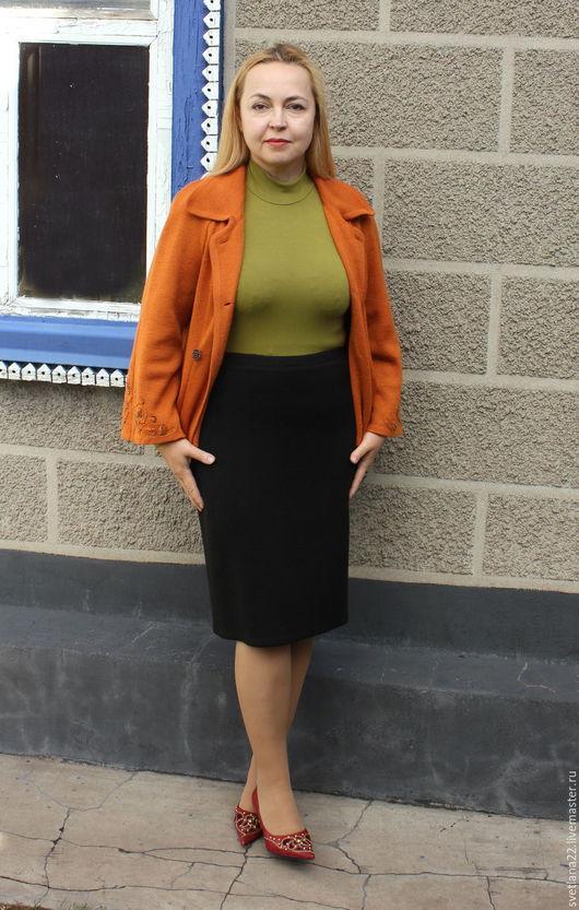 """Юбки ручной работы. Ярмарка Мастеров - ручная работа. Купить Вязаная юбка """"Офисная"""". Handmade. Однотонный, юбка, вязаная юбка"""