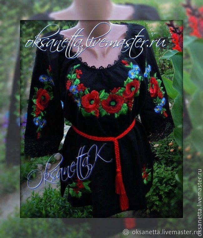 blouse: Blouse 'Red poppies', Blouses, Zaporozhye,  Фото №1