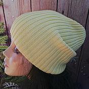 Caps handmade. Livemaster - original item Knitted beanie hat, beanie hat, pumpkin hat. Handmade.